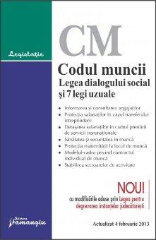Imagine Codul muncii. Legea dialogului social si 7 legi uzuale 4.02.2013