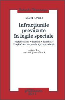 Imagine Infractiunile prevazute in legile speciale ed 4