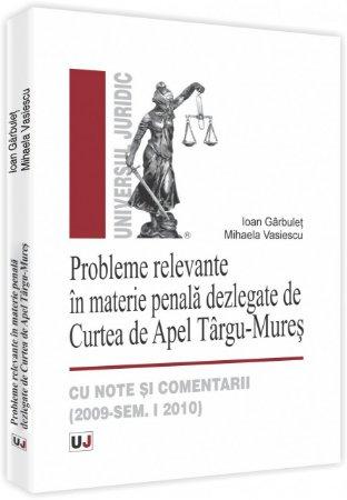 Imagine Probleme relevante in materie penala dezlegate de Curtea de Apel Targu-Mures