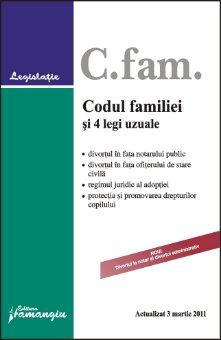 Imagine Codul familiei si 4 legi uzuale 3.03.2011