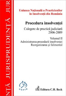 Imagine Procedura insolventei. Culegere de practica judiciara 2006-2009. Volumul II