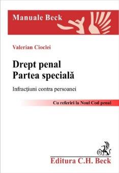 Imagine Drept penal. Partea speciala. Infractiuni contra persoanei