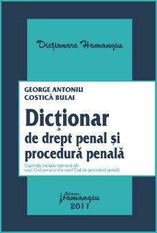 Imagine Dictionar de drept penal si procedura penala