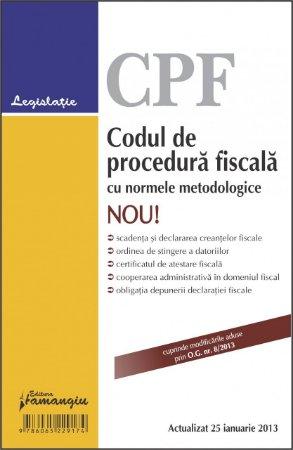 Imagine Codul de procedura fiscala cu normele metodologice 25.01.2013