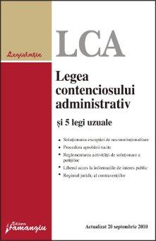 Imagine Legea contenciosului administrativ si 5 legi uzuale 20.09.2010
