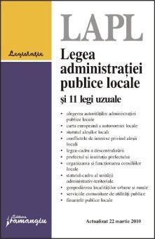 Imagine Legea administratiei publice locale si 11 legi uzuale. Actualizata 22 martie 2010