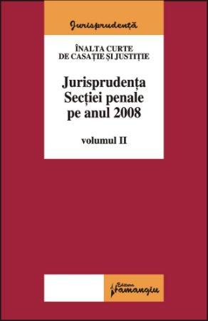 Imagine Jurisprudenta Sectiei penale pe 2008 volumul II