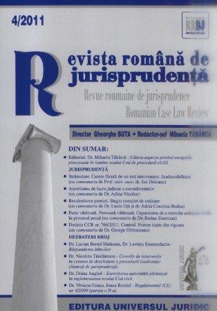 Imagine Revista romana de jurisprudenta, Nr. 4/2011
