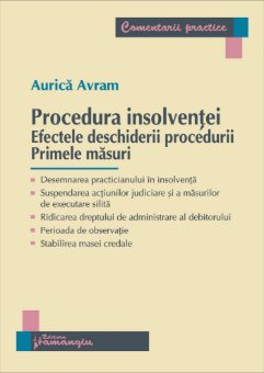 Imagine Procedura insolventei. Efectele deschiderii