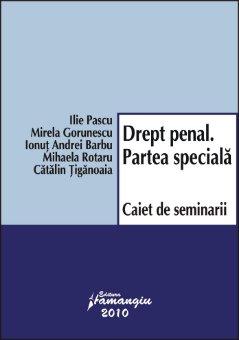 Imagine Drept penal. Partea speciala. Caiet de seminarii