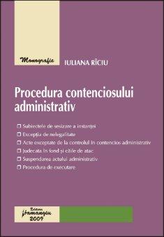 Imagine Procedura contenciosului administrativ