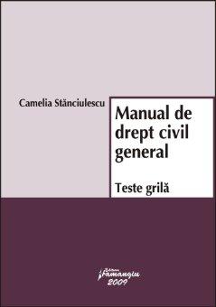 Imagine Manual de drept civil general. Teste grila