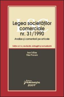 Imagine Legea societatilor comerciale nr 31/1990. Analize si comentarii pe articole