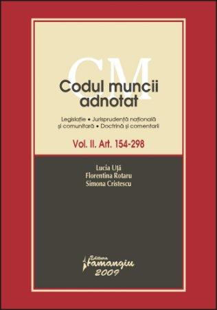 Imagine Codul muncii adnotat. Volumul II art 154-298