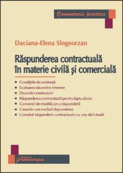 Imagine Raspunderea contractuala in materie civila si comerciala
