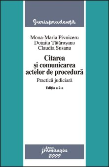 Imagine Citarea si comunicarea actelor de procedura. Practica judiciara ed. 2