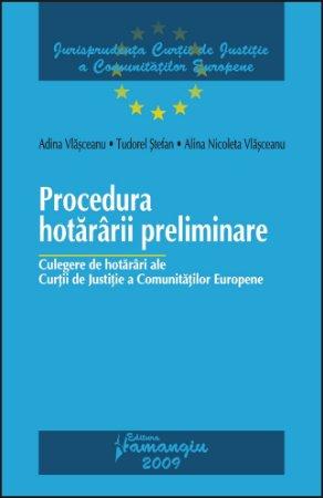 Imagine Procedura hotararii preliminare. Culegere de hotarari ale CJCE