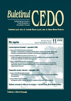 Imagine Buletinul CEDO, Nr. 11/2008