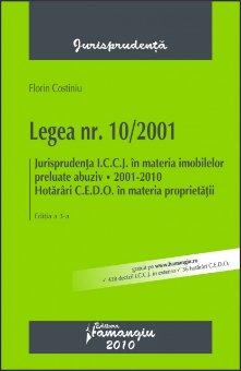 Imagine Legea 10/2001, ed. a 3-a