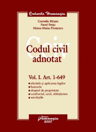 Imagine Codul civil adnotat