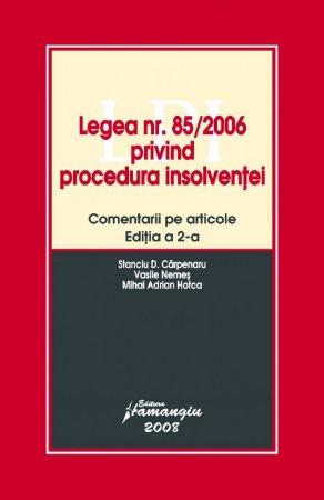 Imagine Legea nr. 85/2006 privind procedura insolventei, ed a 2-a