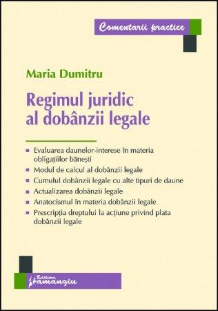 Imagine Regimul juridic al dobanzii legale