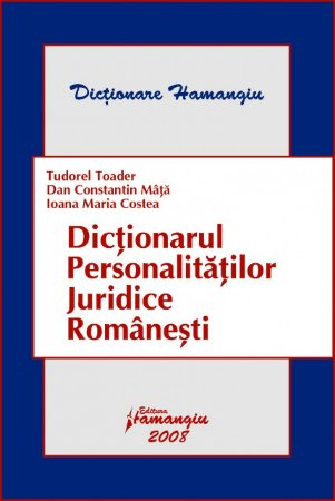 Imagine Dictionarul personalitatilor juridice Romanesti