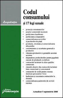 Imagine Codul consumului si 17 legi uzuale, 5.09.2008