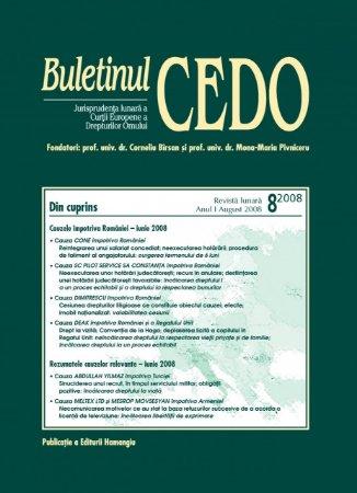 Imagine Buletinul CEDO, Nr. 8/2008
