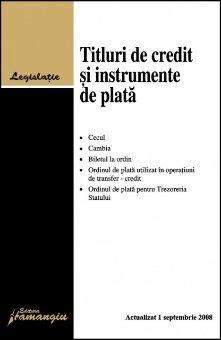 Imagine Titluri de credit si instrumente de plata, 1.09.2008