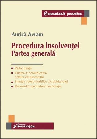 Imagine Procedura insolventei. Partea generala