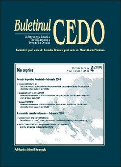 Imagine Buletinul CEDO nr. 4/2008