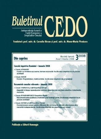 Imagine Buletinul CEDO, Nr. 3/2008