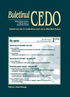 Imagine Buletinul CEDO, Nr. 2/2008