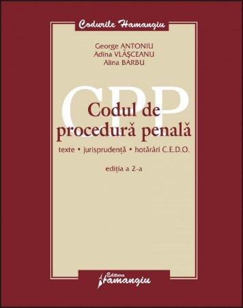 Imagine Codul de procedura penala. Texte, jurisprudenta, hotarari CEDO