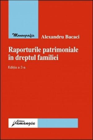 Imagine Raporturile patrimoniale in dreptul familiei ed.2