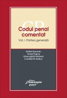 Imagine Codul penal comentat. Partea generala vol. 1