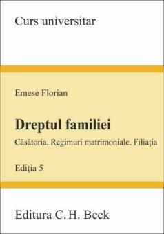Imagine Dreptul familiei - Casatoria. Regimuri matrimoniale. Filiatia - Editia a 5-a