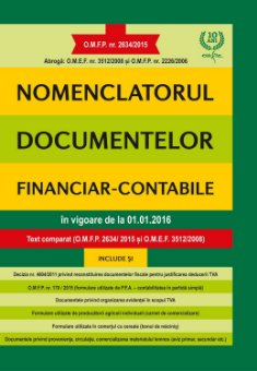 Nomenclatorul documentelor financiar – contabile