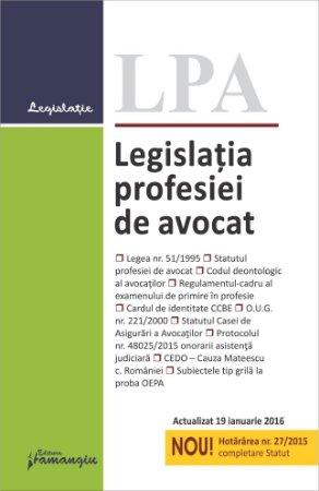 Legislatia profesiei de avocat actualziat 19 ianuarie 2015