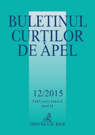 Buletinul Curtilor de Apel nr. 12-2015