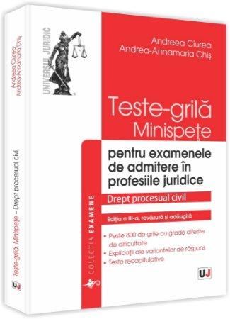 Imagine Teste-grila, Minispete, Drept procesual civil