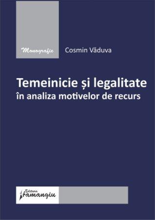 Temeinicie si legalitate in analiza motivelor de recurs - Vaduva