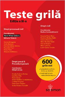 Teste grila – Drept civil  Drept procesual civil  Drept penal  Procedura penala-Ciobanu, Tabarca