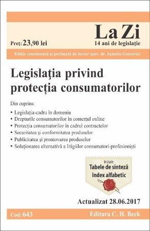 Legislatia privind protectia consumatorilor. Actualizat la 28 iunie 2017