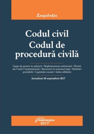 Codul civil. Codul de procedura civila. Actualizat 20 septembrie 2017