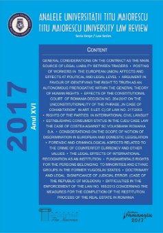 Analele Universitatii Titu Maiorescu - Titu Maiorescu University law review 2017