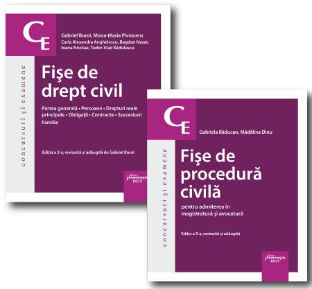 Pachet Fise drept civil si procedura civila 2018