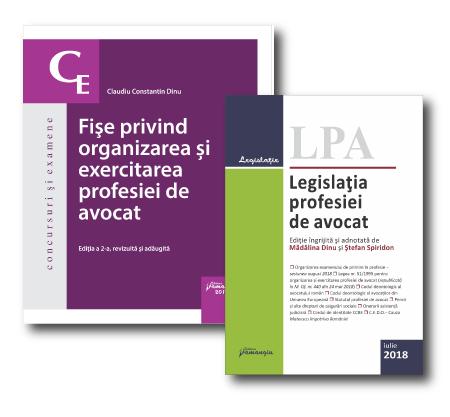 Pachet organizarea si exercitarea profesiei de avocat
