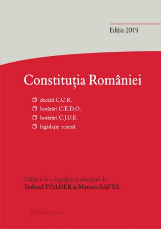 Constitutia Romaniei  2019